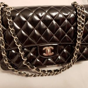 CHANEL 2.55 Reissue Medium Quilted Black Patent Le